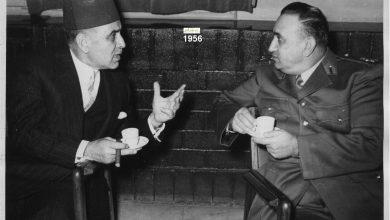 صورة اللواء توفيق نظام الدين وصائب سلام عام 1956
