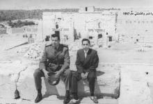 صورة النقيب أديب شرف وزياد نظام الدين في تدمر 1957 (2)