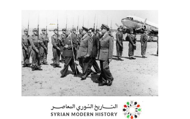 صورة زيارة شكري القوتلي إلى تدمر والقامشلي عام 1957