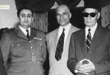 صورة الزعيم توفيق نظام الدين وطه حسين في دمشق عام 1955