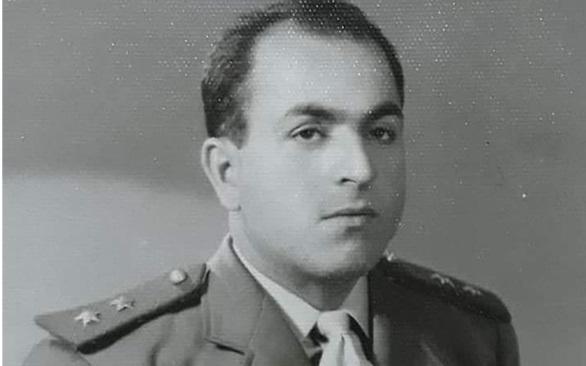 صورة الملازم أول عبد الحميد المقداد أثناء أداء خدمة الاحتياط