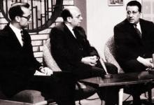 صورة عبد الغني العطري في ندوة تلفزيونية عام 1962