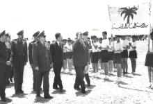 صورة مدرسة العشائر في تدمر ترحب بالرئيس شكري القوتلي 1957