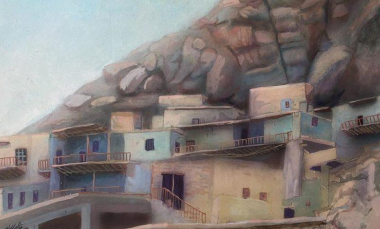 صورة قرية معلولا .. لوحة للفنان خالد الأسود (3)
