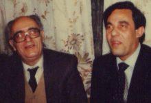 صورة جمال الأتاسي ونصر شمالي في تسعينيات القرن العشرين في منزله