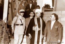 صورة دمشق 1958- خليل كلاس وولي العهد اليمني محمد البدر (2/2)