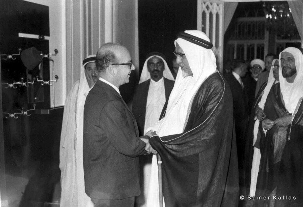 خليل كلاس والشيخ علي بن عبدالله آل ثاني أمير قطر 1959م