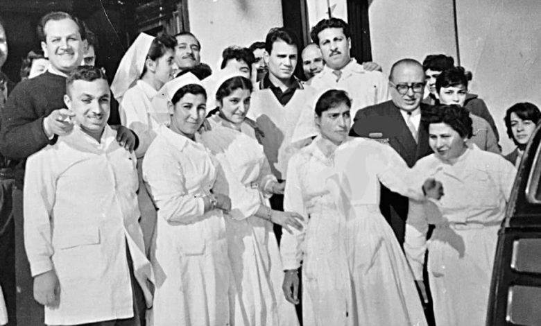 صورة عبد الحليم حافظ في مستشفى المجتهد بدمشق عام 1957