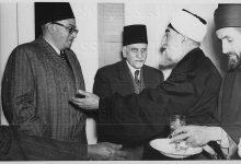 صورة هاشم الأتاسي في المأدبة التي أقامها الشيخ عزيز الخاني عام 1950