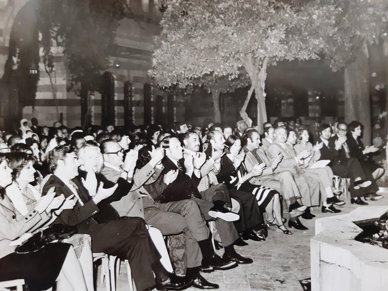 قصر العظم 1974 - الحفل الذي أقيم على شرف الوفد الأميركي - شركة بوينغ (3/3)