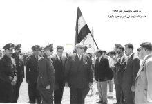 صورة استقبال شكري القوتلي في تدمر عام 1957