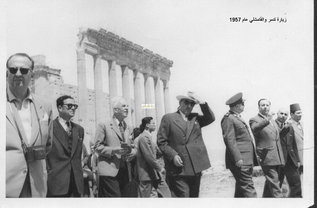 زيارة شكري القوتلي إلى تدمر والقامشلي عام 1957