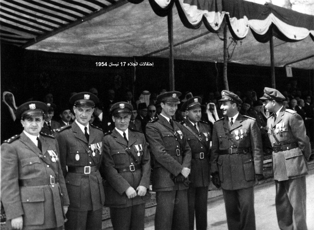 ضباط من الجيش السوري - احتفال عيد الجلاء 1954 (1)