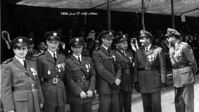 صورة ضباط من الجيش السوري – احتفال عيد الجلاء 1954 (1)