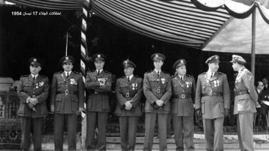 صورة ضباط من الجيش السوري – احتفال عيد الجلاء 1954 (3)
