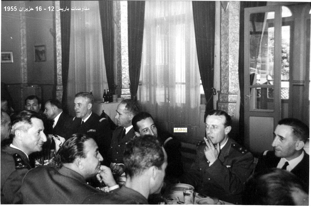 اجتماع الوفد العسكري السوري مع ضباط فرنسيين في باريس 1955
