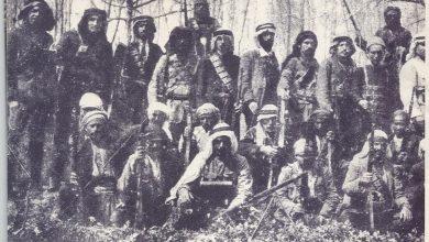صورة صبري العسلي مع مجموعة من المشاركين في الثورة السورية الكبرى