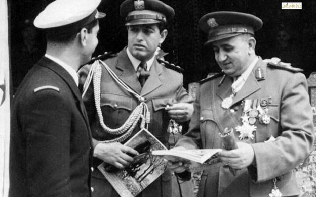 صورة توفيق نظام الدين وكاظم زيتونة – احتفال عيد الجلاء 1957 (3)