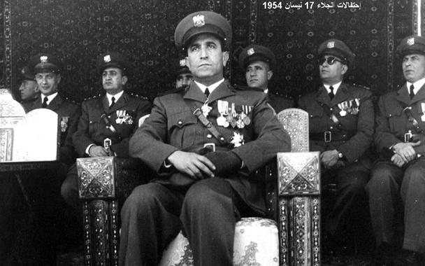 صورة شوكت شقير رئيس الأركان – احتفال عيد الجلاء 1954 (4)