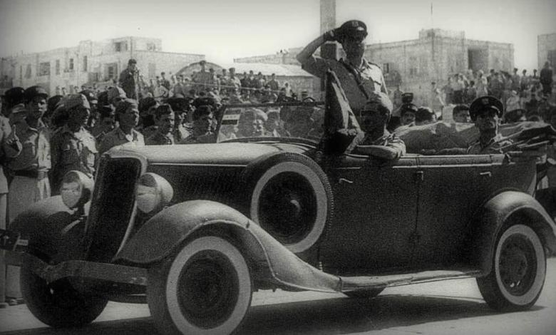 صورة بهيج كلاس في استعراض الاحتفال بالجلاء عام 1946م