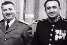 صورة الزعيم توفيق نظام الدين والمقدم عبد الكريم زهر الدين في باريس 1955