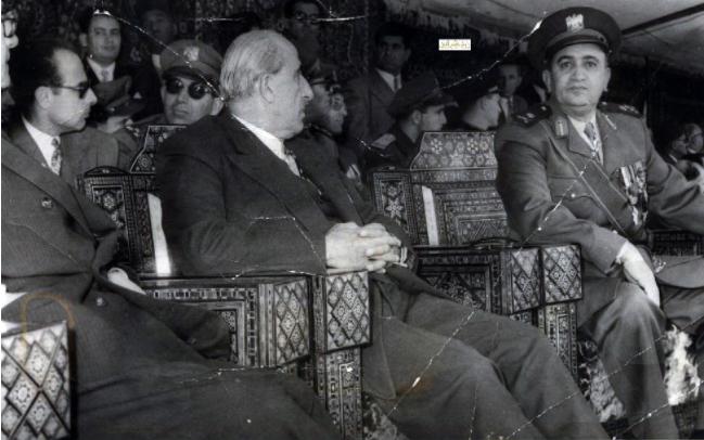 صورة شكري القوتلي و توفيق نظام الدين – احتفال عيد الجلاء 1957(12)