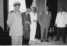 صورة شكري القوتلي في مكتب سعيد السيد محافظ حمص عام 1956