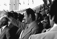 صورة حافظ الأسد في افتتاح ملعب العباسيين (1)