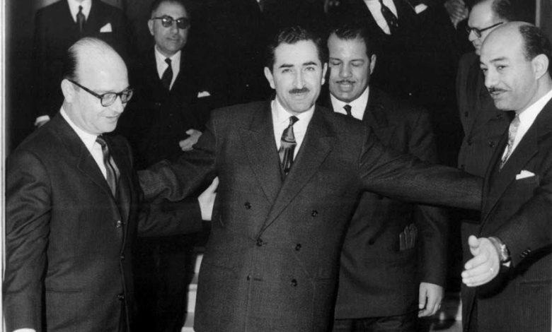 صورة خليل كلاس ورشيد كرامي في لبنان عام 1958