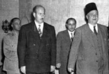صورة سعيد الغزي ووزير الدفاع رشاد برمدا عام 1956