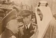 صورة زيارة الأمير سعود بن عبد العزيز إلى سورية 1953