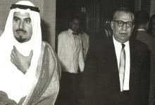 صورة السفير السوري في الكويت سعيد السيد مع الأمير جابر الأحمد الصباح
