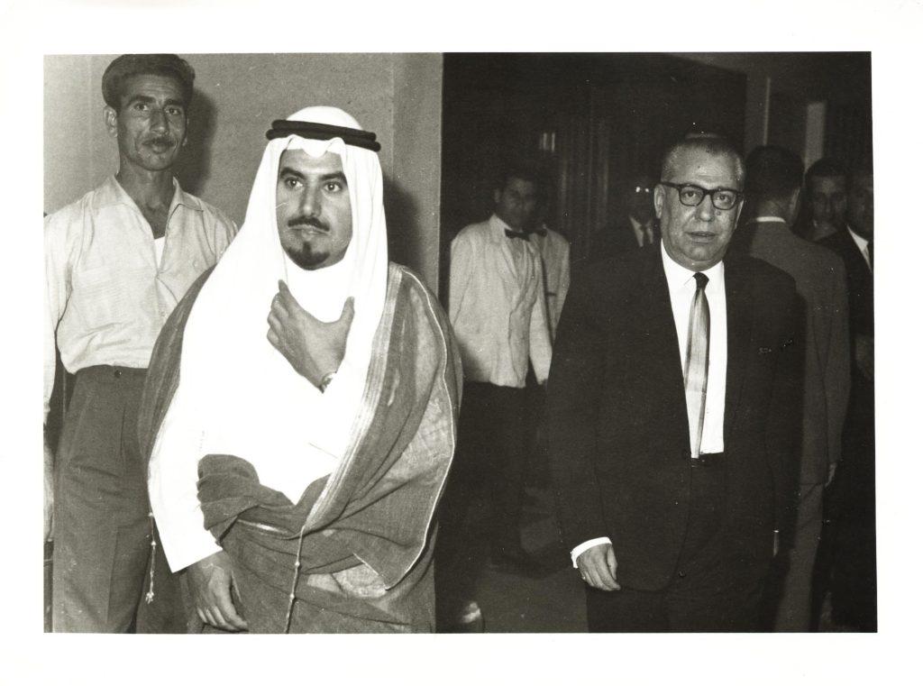 السفير السوري في الكويت سعيد السيد مع الأمير جابر الأحمد الصباح