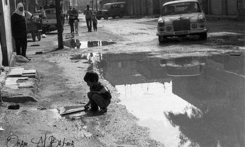 صورة طفل في منطقة الحجيرة قرب السيدة زينب عام 1986