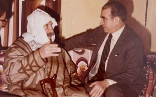 صورة عبد السلام العجيلي في زيارة لـ سلطان الأطرش في سبعينات القرن العشرين (1)