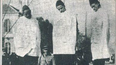 صورة فخري حسن الخراط على عود المشنقة في دمشق 1925