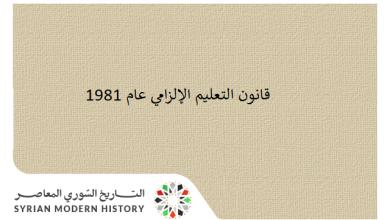 صورة قانون التعليم الإلزامي عام 1981