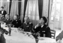 صورة مأدبة عشاء في باريس على شرف الوفد العسكري السوري عام 1955 (2)
