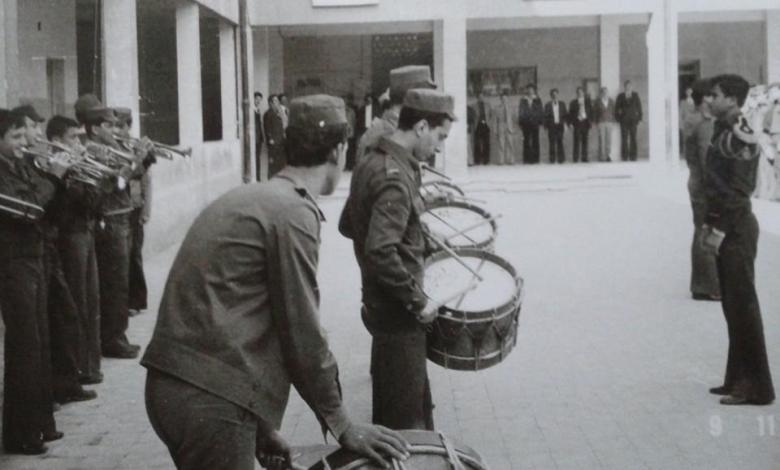 صورة فرقة مدرسة ابن العميد الموسيقية عام 1978