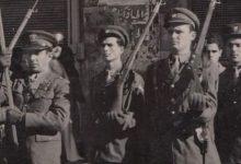 صورة الرقيب موفق الخاني في أول احتفال بعيد الجلاء عام 1946