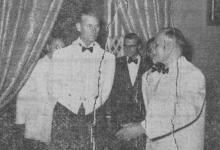 """صورة زيارة الدوق فيليب قائد المدمرة البريطانية """"تشيكرز"""" إلى سورية 1950"""