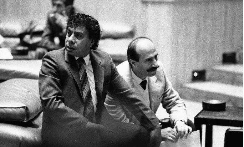 صورة ياسين بقوش ويوسف حرب في مهرجان دمشق المسرحي عام 1988