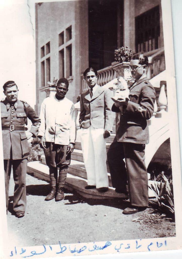 يوسف الدبيسي أمام نادي الضباط في السويداء عام 1940