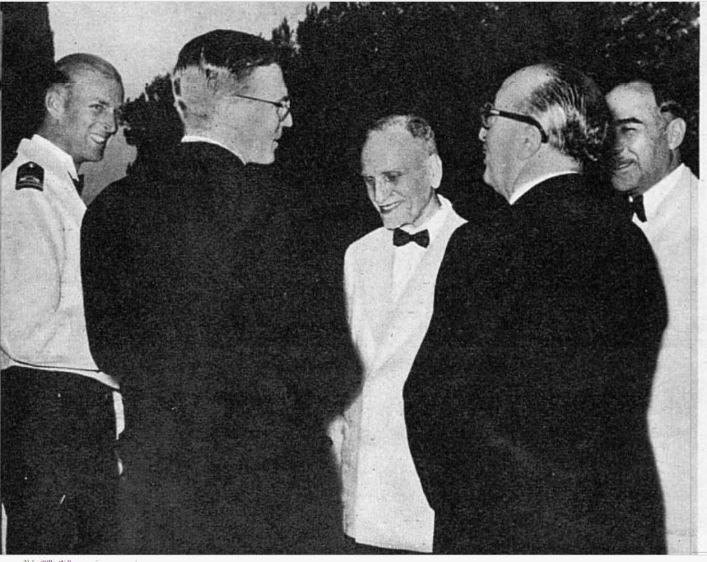 هاشم الأتاسي والدوق فيليب في دمشق 1950
