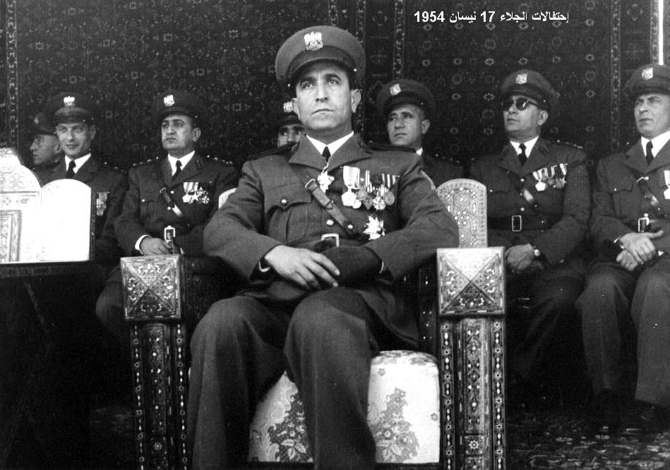شوكت شقير رئيس الأركان - احتفال عيد الجلاء 1954 (4)