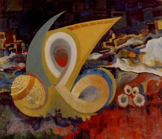 الفطر 1964 .. لوحة للفنان حسان أبو عياش (3)