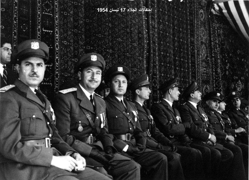 ضباط من الجيش - احتفال عيد الجلاء 1954 (6)
