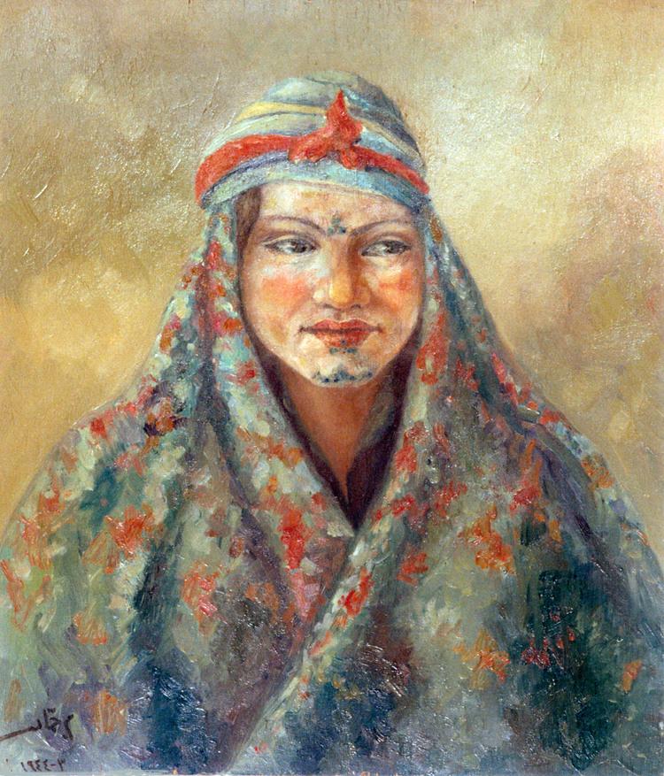 المنجمة سميرة .. لوحة للفنان محمود حماد عام 1944(8)