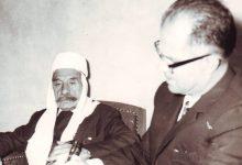 صورة سلطان الأطرش يملي مذكراته على يوسف الدبيسي عام 1972