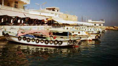 صورة جزيرة أرواد –  الرصيف المقابل لمدينة طرطوس عام 1985م